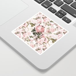 Vintage & Shabby Chic - Sepia Pink Roses  Sticker