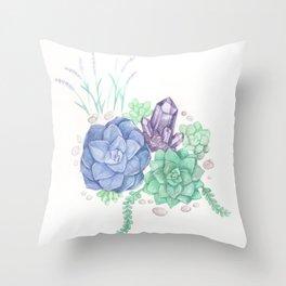 Botanical Succulents Throw Pillow