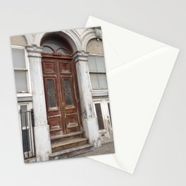 Architectural Weathered Door Old Montreal Stationery Cards