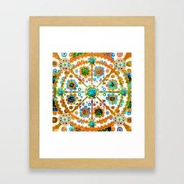 Mandala Flower Framed Art Print