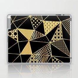 gold geometric with pattern Laptop & iPad Skin