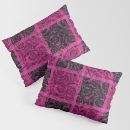 Raspberry patchwork Roses. Pillow Sham