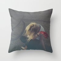 blood Throw Pillows featuring Blood by kdyj