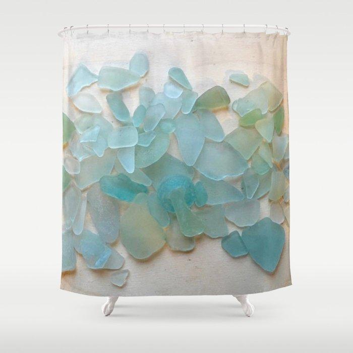 Ocean Hue Sea Glass Duschvorhang