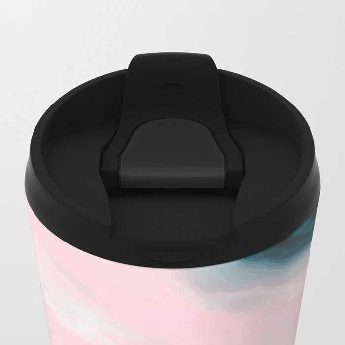 Pink and blue tide Metal Travel Mug