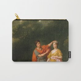 Joseph-Marie Vien - Lover Crowning his Mistress Carry-All Pouch