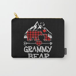 Grammy Bear Christmas Pajama Red Plaid Carry-All Pouch