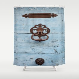 Letters, Knocker, Handle Shower Curtain