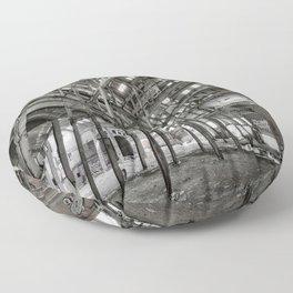 Metallic Structures Floor Pillow