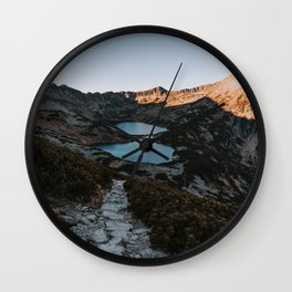 Mountain Ponds - Landscape and Nature Photography Wall Clock
