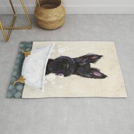 Scottie scottish terrier dog bath bubble bath soap clawfoot tub  Rug