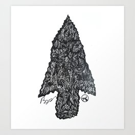 """Flint"" Hand-Drawn by Dark Mountain Arts Art Print"