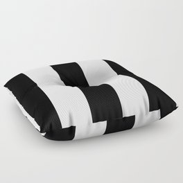 5th Avenue Stripe No. 2 in Black and White Onyx Floor Pillow