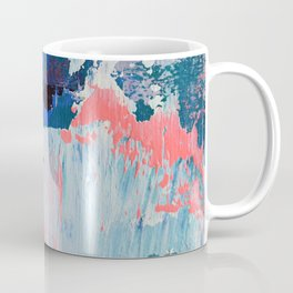 Mixtapes and Bubblegum: a colorful abstract piece in pinks and blues by Alyssa Hamilton Art Coffee Mug