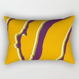 Abstract zebra print Rectangular Pillow