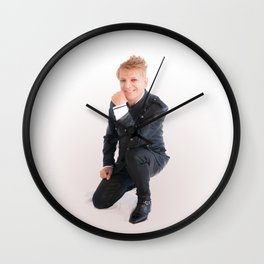 Fleet Easton - The Prince of Palm Springs Wall Clock