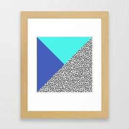 Memphis pattern 29 Framed Art Print