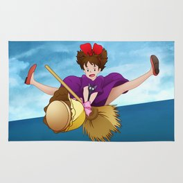 Kiki's Delivery Service – Kiki and Jiji Flying Broom Rug