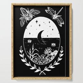 Moon River Marsh Illustration Invert Serving Tray