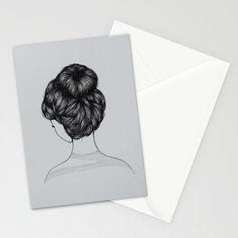 Bun Girl Stationery Cards