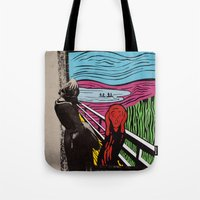 scream Tote Bags featuring Scream by Canson City