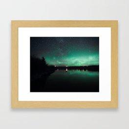 Northern Lights over Emerald Bay II Framed Art Print