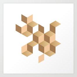 cubes deconstruction Art Print