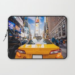 Taxi in Times Square, New York. Laptop Sleeve