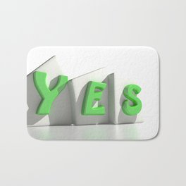 Yes green tags Bath Mat