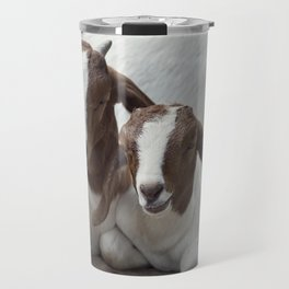 Two Young Boer Goats resting Travel Mug