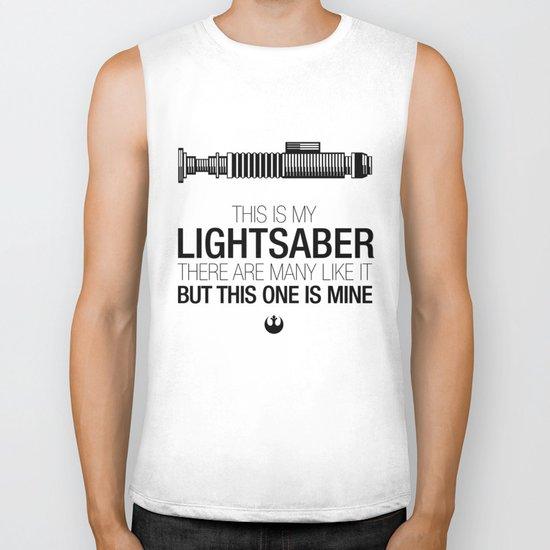 This is my Lightsaber (Luke Version) Biker Tank