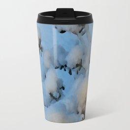 Snow Blossoms Travel Mug