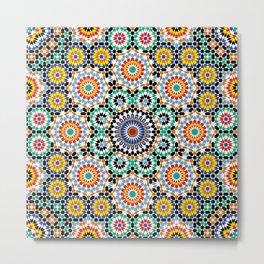Morocco Tiles Metal Print