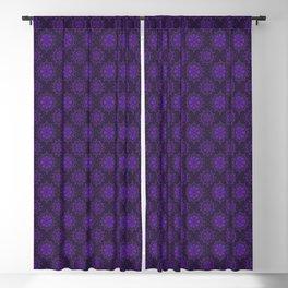 Violet Flower, rustic bohemian floral pattern Blackout Curtain