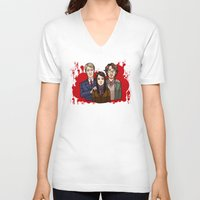 dramatical murder V-neck T-shirts featuring Murder Family by Will Norton