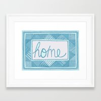 home sweet home Framed Art Prints featuring Home by Anita Ivancenko