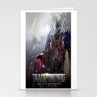 transformers Stationery Cards featuring transformers  , transformers  games, transformers  blanket, transformers  duvet cover by ira gora