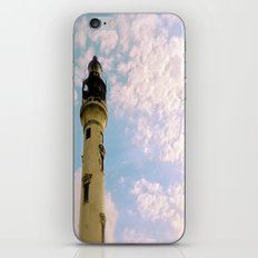 Cloudy at the Lighthouse iPhone & iPod Skin