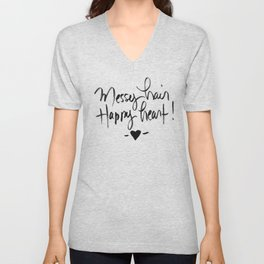 Messy Unisex V-Neck