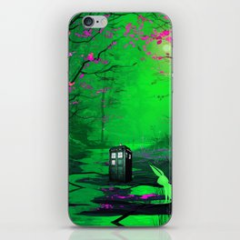 Tardis Stay Lost In The Forest iPhone Skin