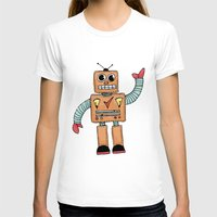 robot T-shirts featuring Robot by Lindsay Anne Design