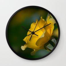 Walking On Sunshine Rose Wall Clock