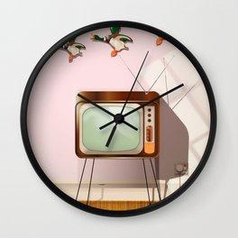 Flying Ducks Wall Clock