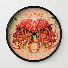 Conjoined Fruit Wall Clock