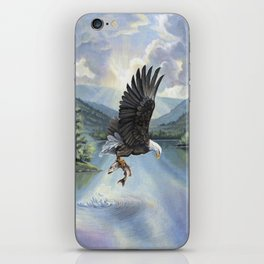 Eagle with Fish iPhone Skin
