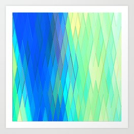 Re-Created Vertices No. 32 by Robert S. Lee Art Print