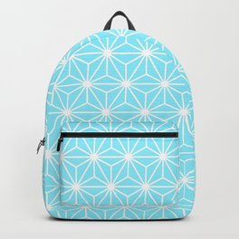 Ice Blue Geometric Flowers and Florals Isosceles Triangle Backpack