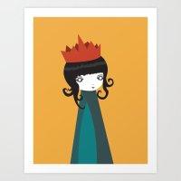 queen Art Prints featuring Queen by Volkan Dalyan
