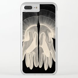 X-Ray of Vintage Gloves (square) Clear iPhone Case
