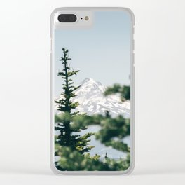 Mount Hood XVI Clear iPhone Case